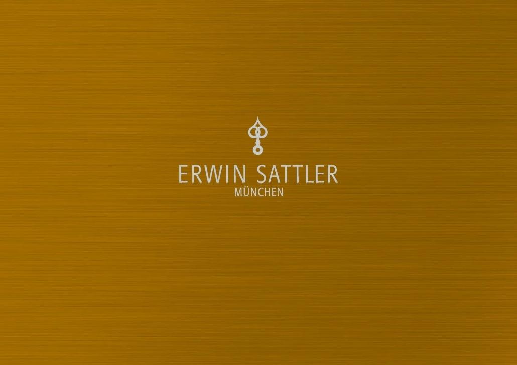 Erwin Sattler Logo auf geschliffenem Metall