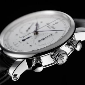 Armbanduhr Erwin Sattler Chronograph II S Aufzugskrone